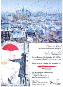 """""""Paris en hiver"""" at Elements Gallery, 2012."""