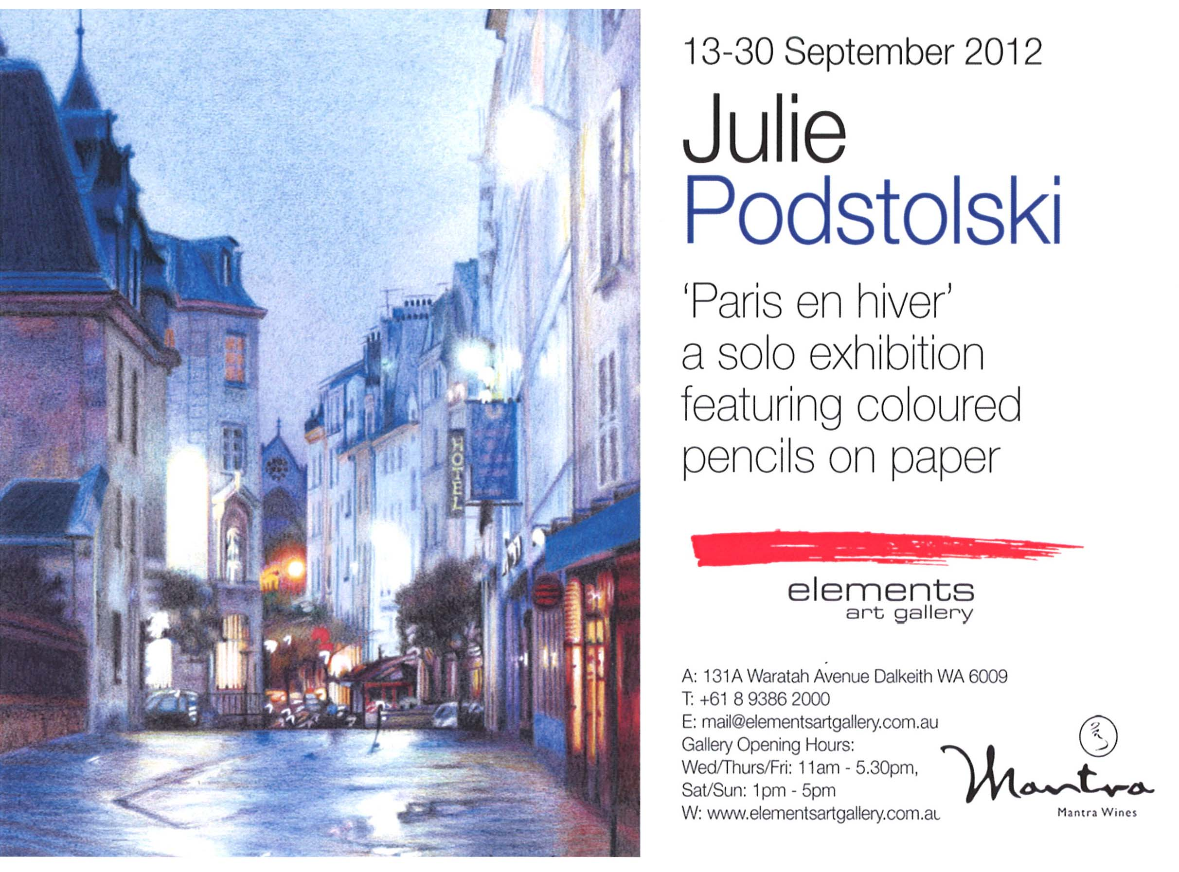 Archive of exhibition invitations julie podstolski abstract realism paris en hiver poster stopboris Image collections