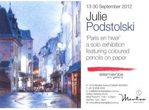 Paris en hiver poster.
