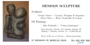 """Urban Landscapes"" oil paintings at Denison Sculpture Studio, Balmain."