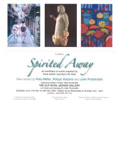 """""""Spirited Away"""" exhibition at The Old Royal George Gallery, 2007."""
