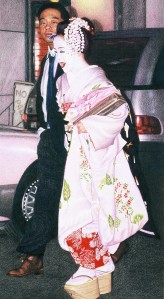"The first maiko drawing I did in 2003 which I called ""Stepping Out"". After I drew this I was hooked!"