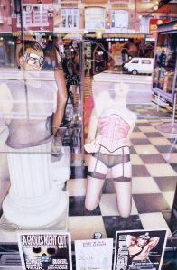 """""""Through the Looking Glass"""" - a shop window in Oxford Street, Sydney."""