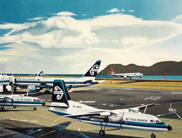 """Trans Tasman"" oil painting from around 1989."