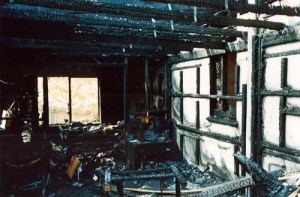 A photo of our family room a few days after the fire.