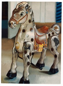 """Mobo"" oil painting of my tin horse."