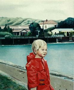 """What Does Alicia See?"" oil painting of my middle daughter, Alicia when she was two."