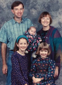 Matthew, Julie, Emily, Alicia and Lucy in 1994.
