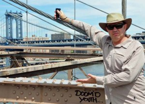 Doomed Youth - or - Matt on Brooklyn Bridge.
