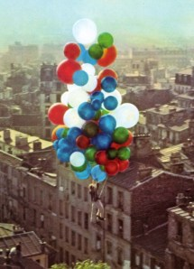 "A still from A. Lamorisse's film ""The Red Balloon""."