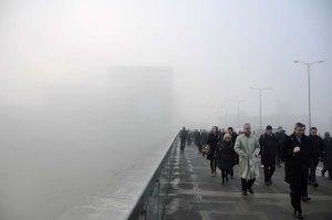 On London Bridge on the morning of 11th December.