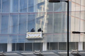 Window cleaning The Shard - a job for life.