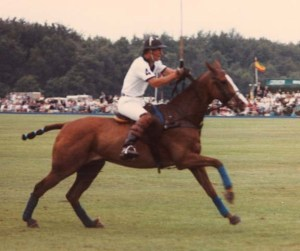 Charles on one of his polo ponies. (They were playing Argentina.)