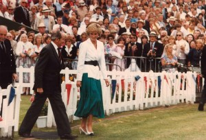 Diana is led out. Never mind the polo. Everyone just wants to photograph HER, including me.