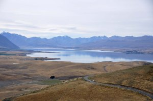 Driving back to Christchurch we stop at Mount John Observatory where there is a fantastic cafe. I photograph Lake Tekapo from Mount John. This is Mackenzie Country.