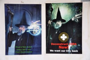 The Wizard of New Zealand - yes, there really is such a character - wants to save the Anglican Cathedral in The Square.