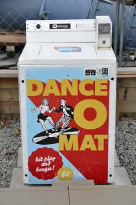 Here is the source of the music - a musicked-up washing machine. Please enjoy DANCE O MAT.
