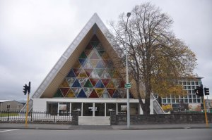 The Transitional Cathedral, better known as the Cardboard Cathedral.