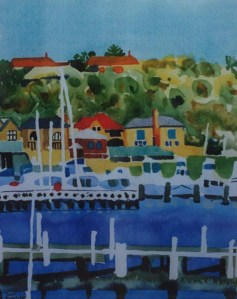View from Pier Street watercolour 1998