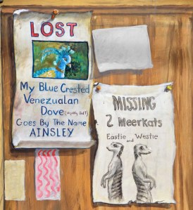 """""""Lost"""" notice.  I wonder if you can locate the lost bird?"""