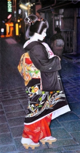 Gion Fantasy Coloured pencil drawing of Mamechiho, 2010