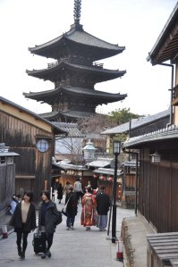 Yasaka Pagoda on Tuesday afternoon.