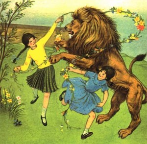 Lucy, Susan and Aslan  The Lion, the Witch and the Wardrobe