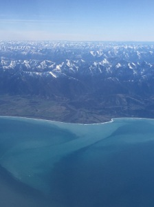 Kaikoura mountains and gorgeous colours in the sea.