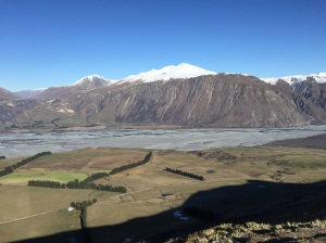 The Rakaia river from Peak Hill.