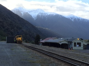 Otira township. This is a railway junction between Christchurch and the West Coast town of Greymouth. It is rather forbidding but I love it.