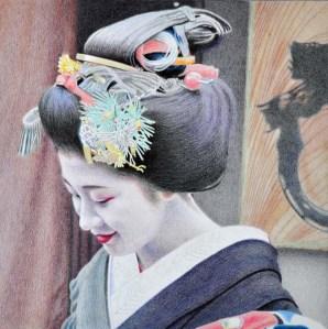 darks on kimono collar