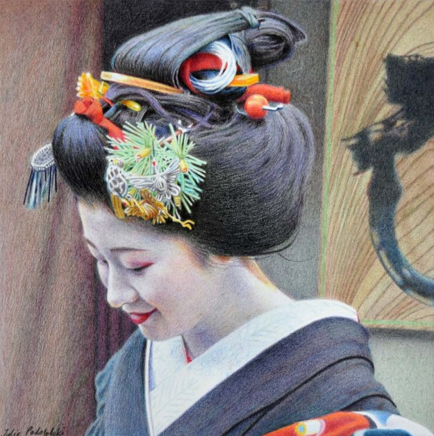 Portrait of Satsuki September 2015 28 x 28 cm.