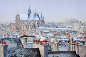 Snow on Les Halles 2012