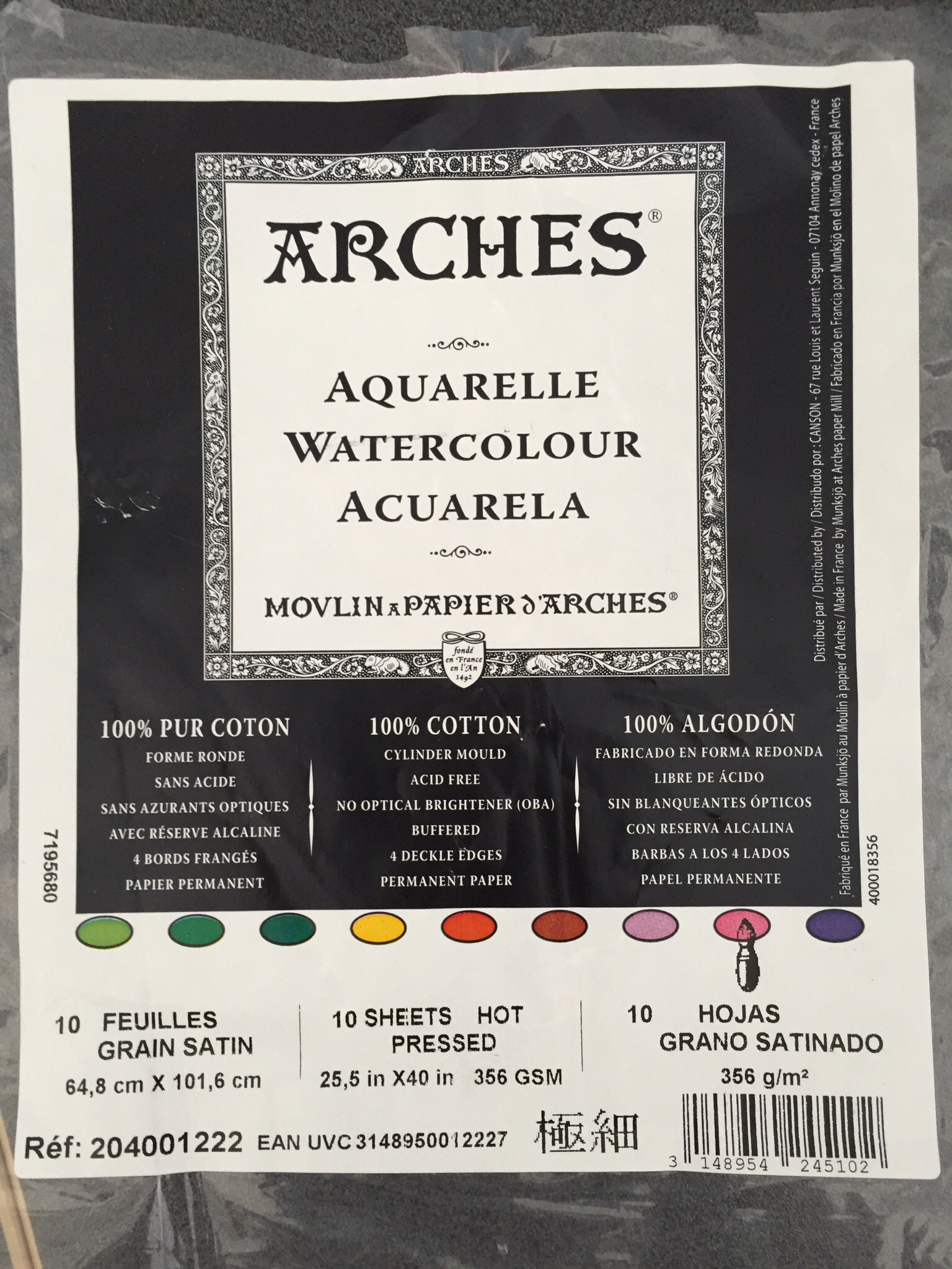 My Favourite Paper Is Arches Aquarelle Hot Pressed Watercolour 300 Or 356 Gsm This A Wonderfully Strong Which Suits Coloured Pencils And Oil