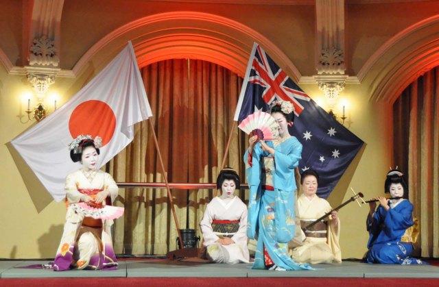 From left: Tomitsuyu, Hinagiku, Tomitae, Miyako and Ryoka