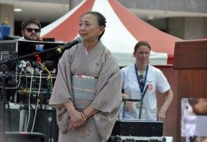The Okaasan of Tomikiku Ochaya; Reiko Tomimori, introduces the audience to the concept of Maiko and Geiko.