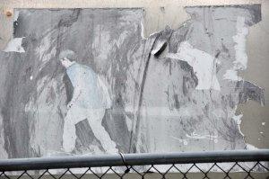 Street art on the entrance to Manhattan Bridge.