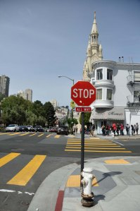 Ahh - the drama of a well-placed stop sign.