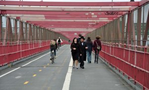 Encased within the Williamsburg Bridge.