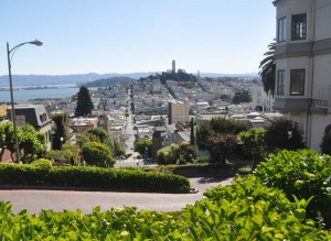 A view looking towards Telegraph Hill.