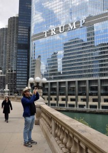 Matt in front of Trump Tower.