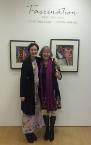 Gallery Opening no 1. With my youngest daughter, Lucy.