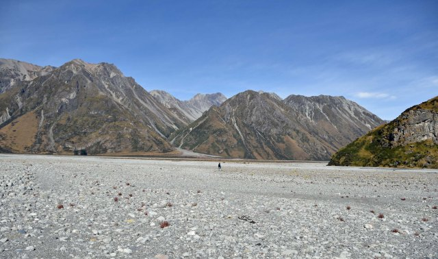 Up near Erewhon Station on the Rangitata river bed.