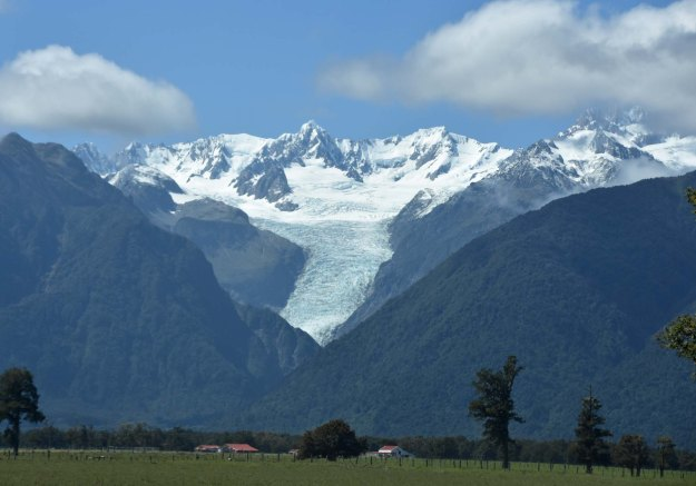 A view of the ever-retreating (due to global warming) Franz Josef glacier.